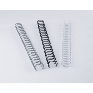 Binderücken Renz Ring Wire 2:1 9,5 mm für 75 Blatt schwarz