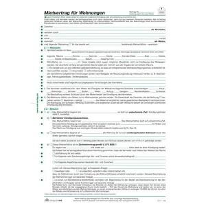 Wohnungs-Mietvertrag A4 ausführliche Fassung f. verschd. Vertragsvarianten