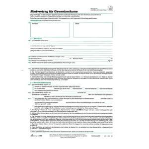 Gewerberaum-Mietvertrag A4 je 5Blatt