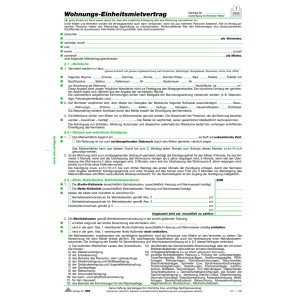 Mietvertrag für Wohnungen A4 4-seitig
