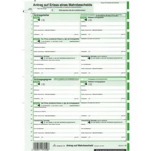 Mahnbescheid A4 EDV neutral für Laserdrucker