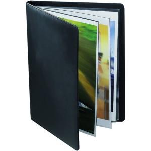 Präsentationsbuch A4, 10 Hüllen, schwarz, Kunstleder