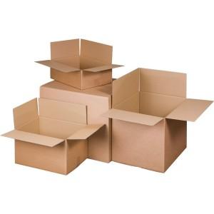Verpackungs- und Versandkarton A3+, 1-wellig, braun, wiederverschließb.