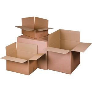Verpackungs- und Versandkartons 2-wellig, braun wiederverschließb.