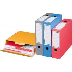 Archiv-Ablagebox rot Innenmaß: 315x76x260mm Außenmaß: 325x86x265mm