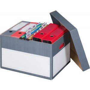 Archivbox mit seperatem Deckel grau Innenmaß: 414x331x266