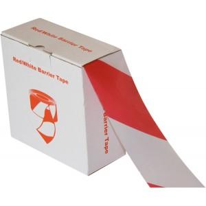 Absperr- und Flatterband rot/weiß aus Polyethylen, 32 my