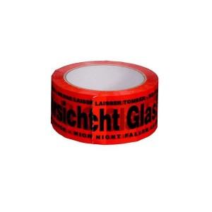 """PP-Signal-Klebeband """"Vorsicht Glas!"""" Maße: 50 mm x 66 m"""