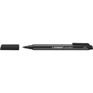 Filzschreiber pointMax schwarz, 0,8mm Strichstärke, Nylonspitze, Kappe