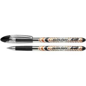 Schneider Kugelschreiber SLIDER Basic 1,4 mm Strichstärke XB, Visco Glide, schwarz