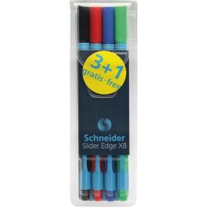 Kugelschreiber SLIDER Edge XB Visco Glide, Basic Colours