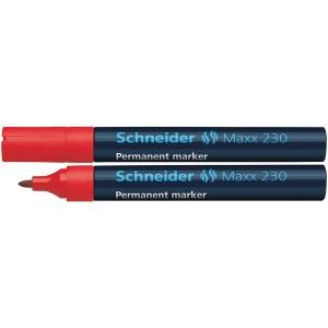 Schneider Permanentmarker 230 Rundspitze 1-3mm, rot
