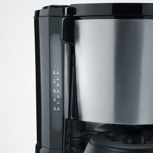 Kaffeemaschine KA4132, Edelstahl gebürstet, schwarz, bis 8 Tassen