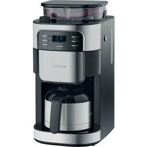 Kaffeeautomat KA4812, Edelstahl gebürstet, schwarz, LCD-Display