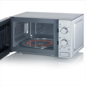 Mikrowelle MW7895, Edelstahl schwarz, 700 W, kapazität ca. 20 L
