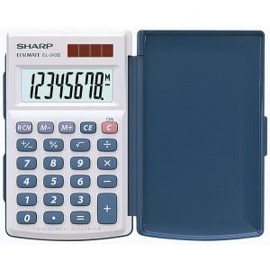 Taschenrechner EL-243S, 8-stellig, Klappetui große LCD-anzeige, Batteriebetrieb