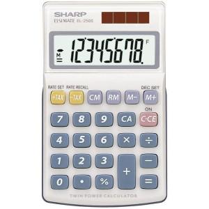 Taschenrechner EL-250S, 8-stellig, Displayschutz, 1 Speicher, Twin-Power