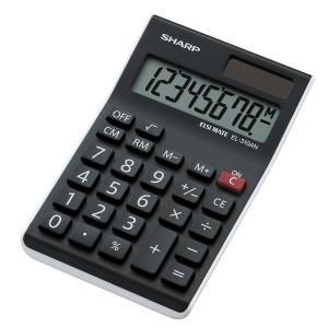 Taschenrechner EL-310ANWH, große 8-stellige LCD-Anzeige, Wurzel-