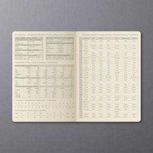 Wochenkalender Conceptum 1W/2S, 2019 148x213x20mm, dark grey