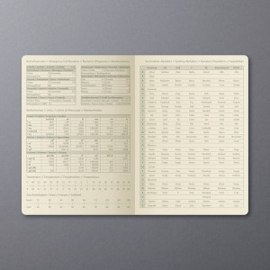 Wochenkalender Conceptum 1W/2S, 2019 148x213x20mm, nude brown