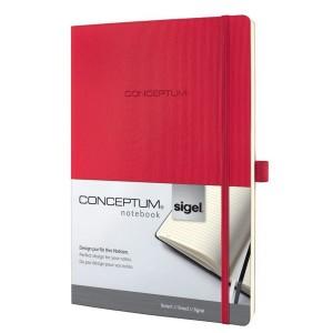 Notizbuch CONCEPTUM, 80g, Softcover red, liniert, Stiftschlaufe