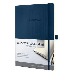 Notizbuch CONCEPTUM, 80g, Softcover midnight blue, kariert, Stiftschlaufe