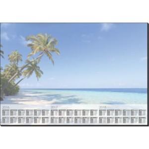 Schreibunterlage Design: Beach, 80g/qm, 595 x 410 mm, 30 Blatt,
