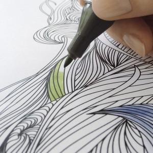 Papier Schreibunterlage Design: Adult Coloring, 20 Blatt, 80g/qm