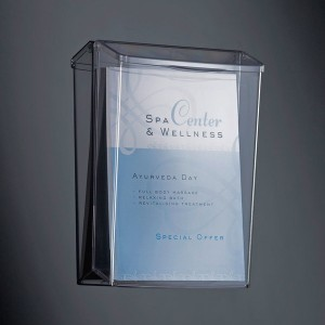 Outdoor Prospekthalter A4 Acryl glasklar, 1 Fach Füllhöhe 60mm,