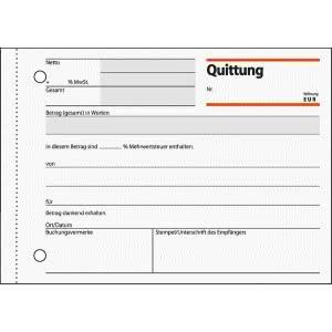 Quittung A6 quer m. Blaupapier und Sicherheitsdruck