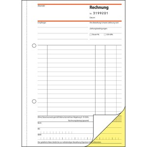Rechnung f. Kleinunternehmer, SD A5hoch, 2 x 30 Blatt, ohne MwSt-
