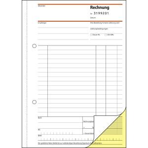Rechnung A5, SD, 2x50Bl. fortlaufend nummeriert
