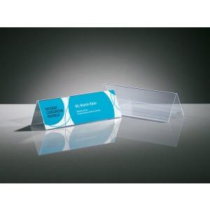 Sigel Tischaufsteller Dachform glasklar für 190 x 60 mm, Hartplastik 5 Stk