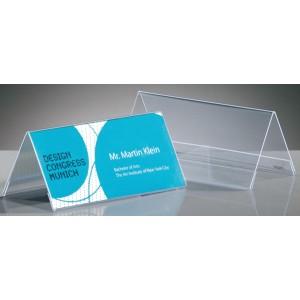 Sigel Tischaufsteller glasklar Plastik Dachform. Maße: 95x42mm