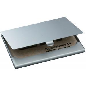 Visitenkarten-Etui Alu,silber,matt für Karten bis 91x58mm