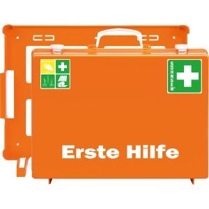 Erste-Hilfe-Koffer Quick-CD orange mit Füllung Standard DIN 13157