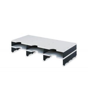 Aufbaueinheit 3 breit Standardhöhe grau/schwarz