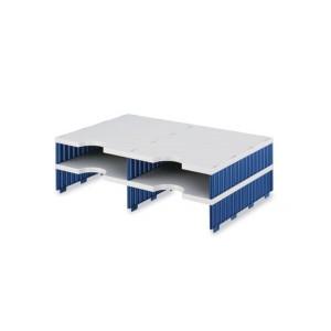 Styrodoc Aufbaueinheit 4 Fächer Aufbaueinheit 2 breit grau/blau