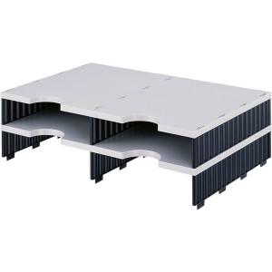 Styrodoc Aufbaueinheit 4 Fächer Aufbaueinheit 2 breit grau/schwarz