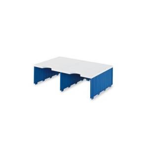 Styrodoc Aufbaueinheit 2 Fächer breit, Jumbohöhe grau/blau