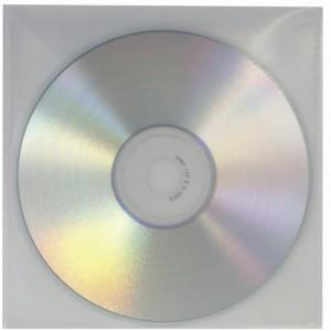 CD/DVD Klarsichttasche mit Klappe transparent