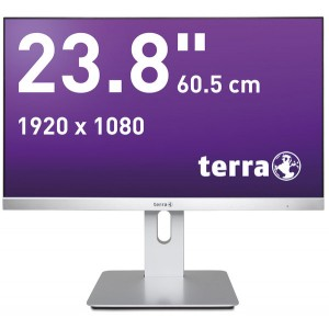 "LCD/LED Monitor 2462W PV silber 23,8"" Full-HD-Display, AMVA-Panel"