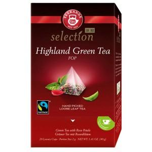 """Tee """"Highland Green Tee"""" Luxury Cup grüner Blatt-Tee mit Rosenblüten"""