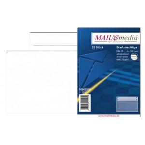 Briefumschlag C6, ohne Fenster, SK, 75 g/qm, weiß