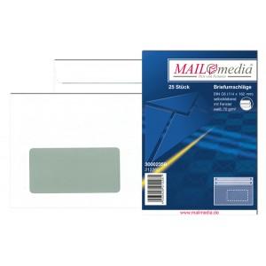 Briefumschlag C6, mit Fenster, SK, 75 g/qm, weiß