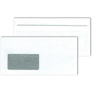 Briefumschlag DL mit Fenster, SK,ws Blickdicht, Sicherheitsschlitz und