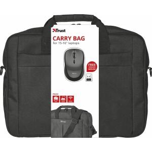 """Primo 16"""" Tasche mit Wireless Maus, schwarz, praktisches Reise-Set"""