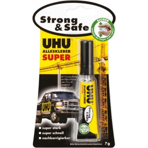 Alleskleber UHU Super Strong & Safe Tube Infokarte 7g