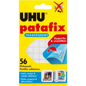 Patafix UHU transparent wieder ablösbare Klebepads