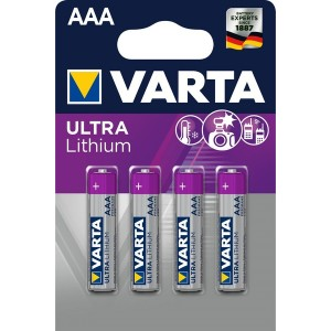 Batterie Lithium Micro AAA 4er Blister Packung